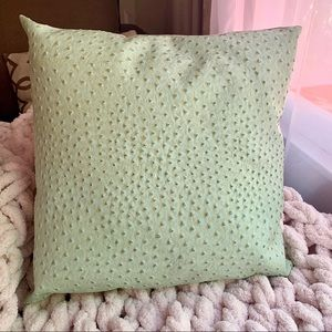 Teal Snakeskin Accent Pillow